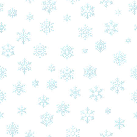Merry Christmas holiday decoration effect background. Blue snowflake seamless pattern template. Foto de archivo - 143697821