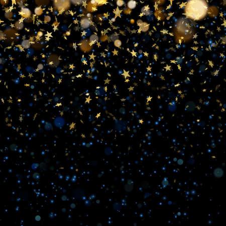 Stars on defocused magic abstract blur background.