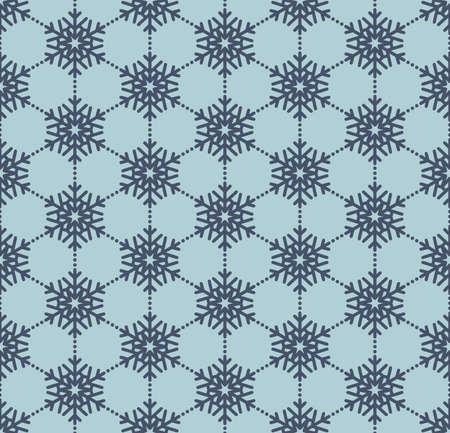 Snowflake blue seamless pattern. Foto de archivo - 143699414