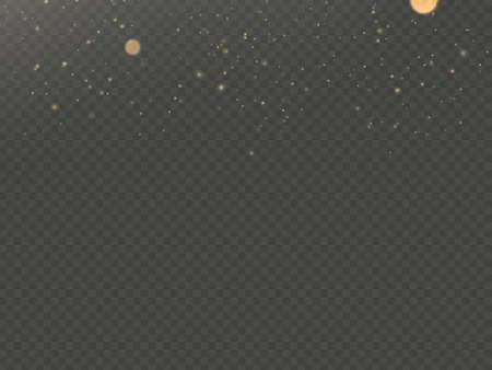 Overlay effect glitter gold light shine effect on transparent background. EPS 10 vector file 向量圖像