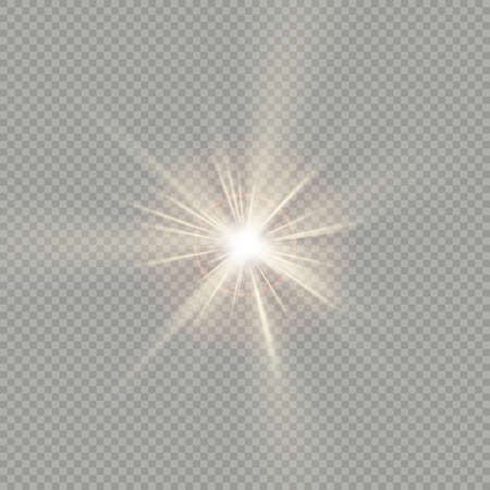 Easy to use. Effect of sunlight special lens flare light. Sun flash with rays, spotlight. EPS 10 vector file 向量圖像