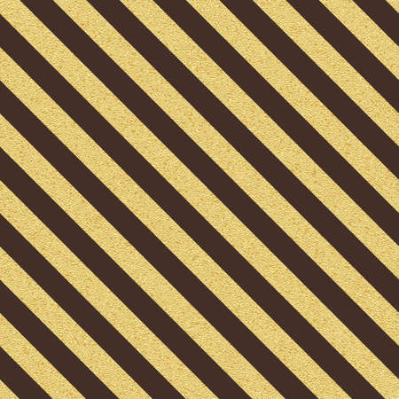 Gold glitter seamless stripes, lines pattern on brown background.