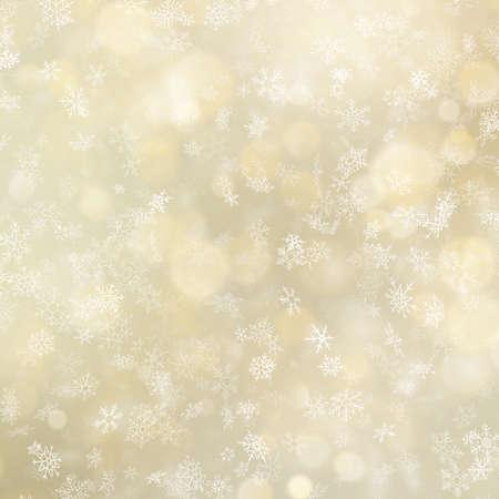 Glowing Christmas snowflakes winter background. EPS 10 vector file Foto de archivo - 143696054