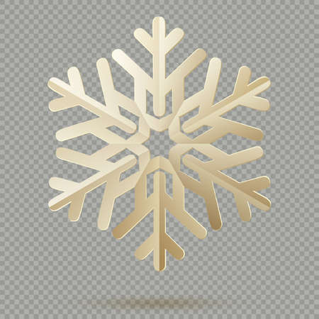Vintage Christmas decoration paper snowflakes with shadow isolated on transparent background. EPS 10 vector file Foto de archivo - 143698959