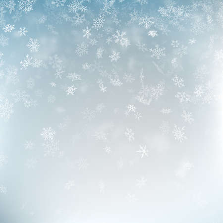Abstract Christmas background with snowflakes. Elegant blue winter template. Eps 10 vector file Foto de archivo - 143700404