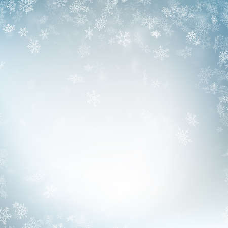 Festive winter blurred background. EPS 10 vector file Foto de archivo - 143700581