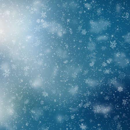 Blue Christmas snowflakes background. EPS 10 vector file Foto de archivo - 143700919