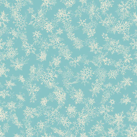 Merry Christmas and Happy New Year seamless snowflakes pattern. Perfect for wrapping paper or textile.