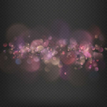 Defocused festive lights bokeh effect. EPS 10 vector file