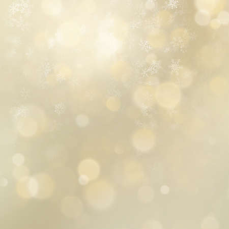 Christmas and New Year gold defocused bokeh lights background. EPS 10 vector file