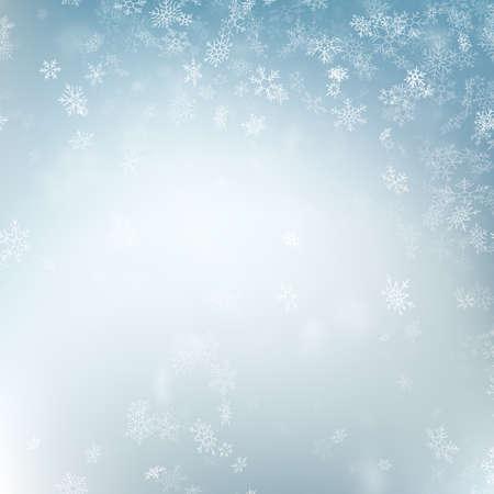 Abstrait de Noël avec des flocons de neige. Modèle d'hiver bleu élégant. Fichier vectoriel EPS 10