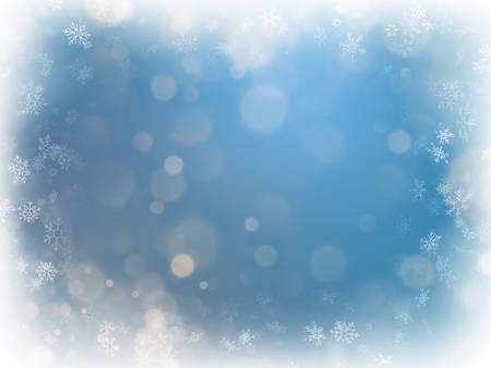 Blue christmas background with snowflakes. EPS 10 vector file