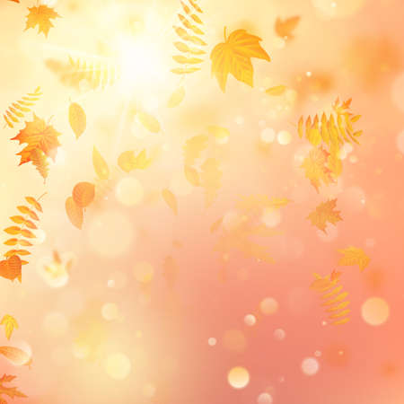 Autumn background with leaves. Back to school template.