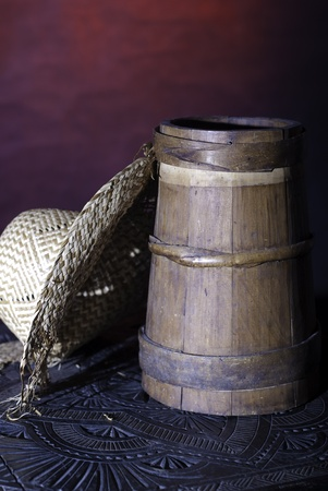 Small barrel with hat photo