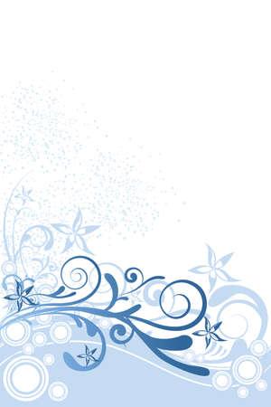 スワール: 装飾との円の花の背景のイラスト  イラスト・ベクター素材