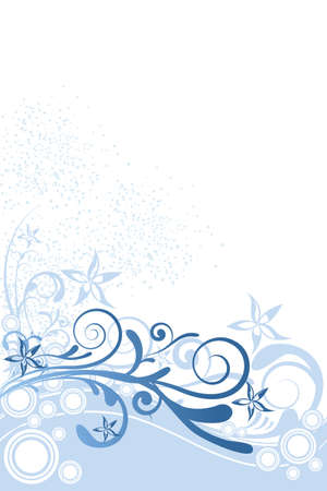 illustration of floral background with ornaments and circles