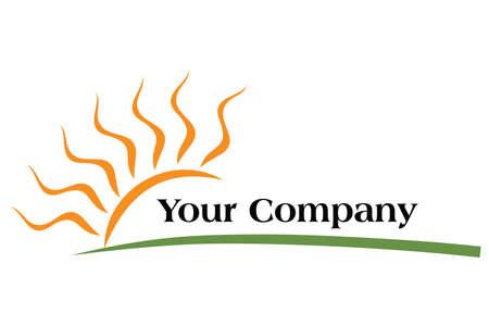el sol: plantilla de dise�o de logotipo para su empresa, f�cil de cambiar de color Vectores