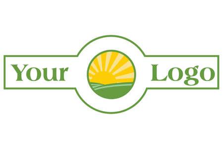 logo ontwerp banner voor uw bedrijf, gemakkelijk om de kleur te wijzigen Stock Illustratie