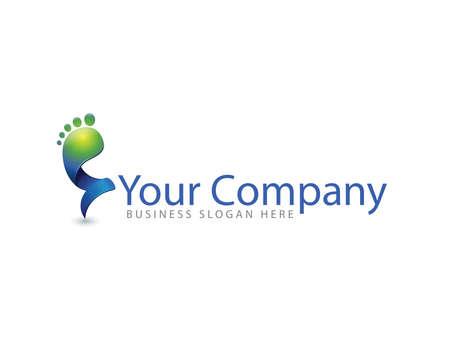 Colourful foot health logo vector template Illustration