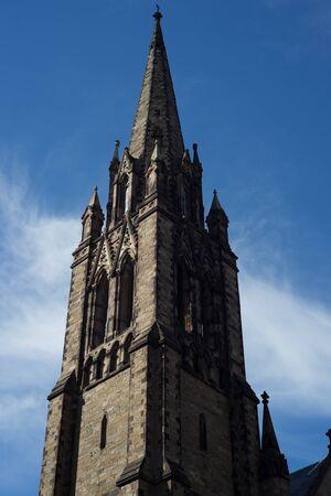 Arlington Street Church Steeple in Boston Massachusetts Boston Common christian