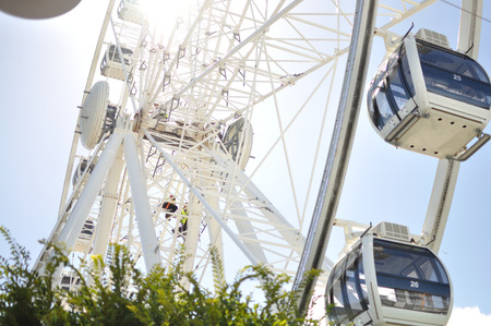 Ferris wheel of excellence in cape town south africa waterfront Stock Photo