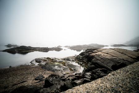 Rocky shoreline in marblehead massachusetts rocks sand sky coast new england
