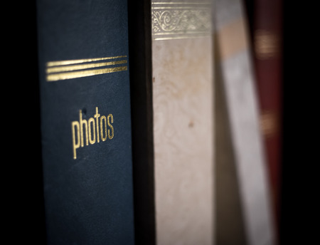 old photo scrap books musty vintage album