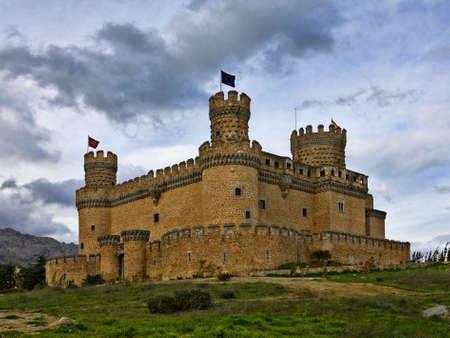 schloss: Castle of Manzanares Stock Photo