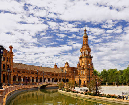 Spagna: Tower of square of spain, seville Stock Photo