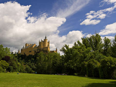 segovia: Alcazar of Segovia Stock Photo