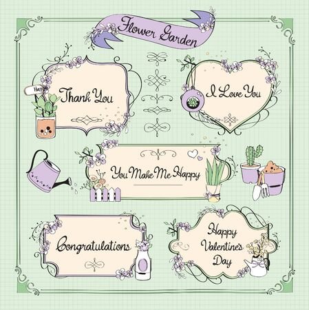 Set of ribbons and labels. Vector illustration.
