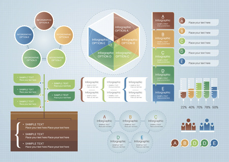 Set elements of infographics, vector illustration. Vector