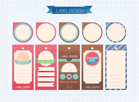 Tags and label design, vector illustration. Ilustrace