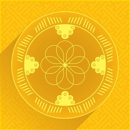 chinese new year pattern: Set of Oriental Design Elements - Pattern 5. Vector Illustration. Illustration