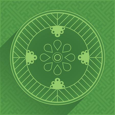 new year border: Set of Oriental Design Elements - Pattern 8. Vector Illustration.