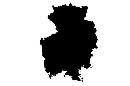 Germany  map with gray tone on  white background,illustration,textured , Symbols of Germany,vector illustration  イラスト・ベクター素材