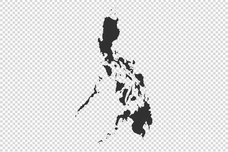 Philippines  map with gray tone on   png or transparent  background,illustration,textured , Symbols of Philippines,vector illustration