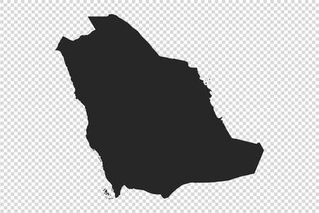 Saudi Arabia map with gray tone on   png or transparent  background,illustration,textured , Symbols of Saudi Arabia,vector illustration