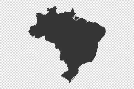 Brazil  map with gray tone on   png or transparent  background,illustration,textured , Symbols of Brazil,vector illustration