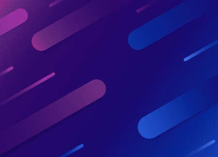 Blue purple geometric background with long rain shape, modern banner design,vector illustration