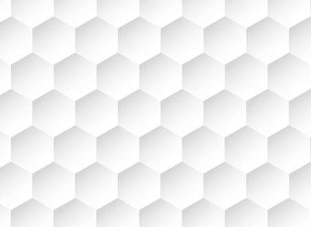 Honeycomb white background, Hexagon texture, 3d white paper background, abstract shape,space for text, objects, vector illustration Stock Illustratie