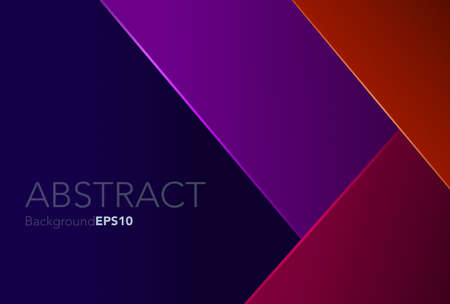 Modern abstract background with orange,purple,red,blue color, sharp shape texture,space for text, objects, vector illustration