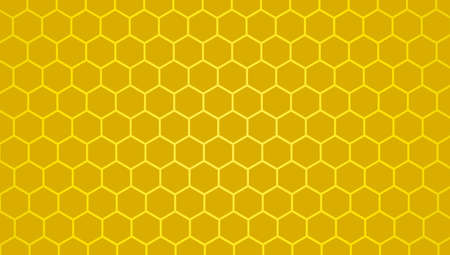 Honeycomb yellow  background, Hexagon texture, 3d white paper background, abstract shape,space for text, objects, vector illustration Stock Illustratie