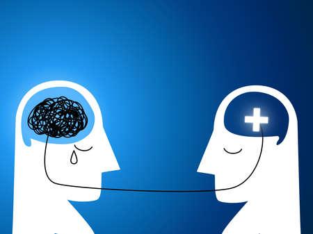Mental health concept, vector illustration Stock Illustratie