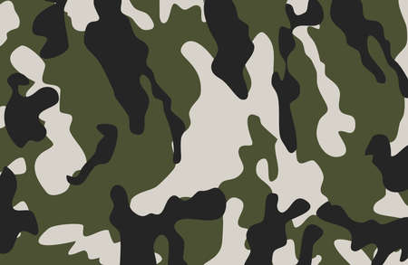 Military camouflage seamless patterns, vector illustration