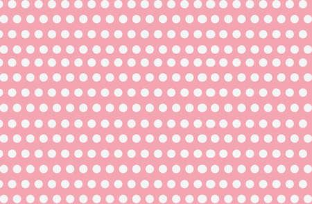 White polka dot on pink  background, seamless pattern background, vector illustration