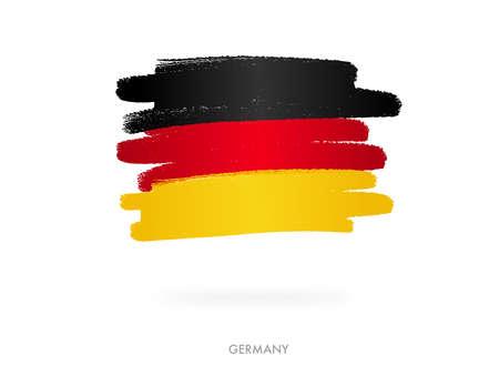 Germany flag with brush paint textured, background, Symbols of Germany, graphic designer element - Vector - illustration Stock Illustratie