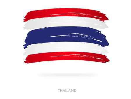 Thailand flag with brush paint textured, background, Symbols of Thailand , graphic designer element - Vector - illustration