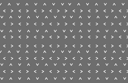 Seamless arrow pattern with different directions  on gray background, vector illustration Stock Illustratie