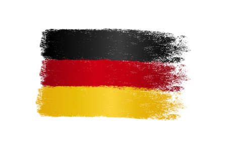 Germany flag with brush paint textured, background, Symbols of Germany , graphic designer element - Vector - illustration